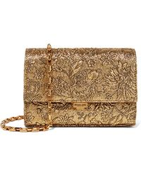 Michael Kors - Yasmeen Small Metallic Brocade Shoulder Bag - Lyst