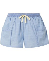 Skin - Jude Cotton-chambray Shorts - Lyst