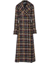 Alessandra Rich - Double-breasted Metallic Tweed Coat - Lyst