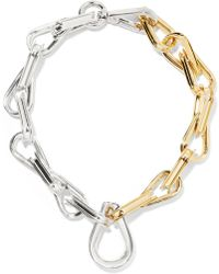 Annelise Michelson - Ellipse Gold And Silver-plated Choker - Lyst