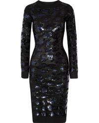 Sibling - Sequin-embellished Merino Wool Dress - Lyst