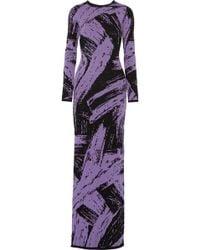 Sibling - Intarsia Wool Maxi Dress - Lyst