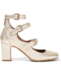 Tabitha Simmons - Ginger Metallic Leather Court Shoes - Lyst