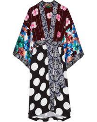 Duro Olowu - Printed Silk-paneled Crepe Kimono - Lyst