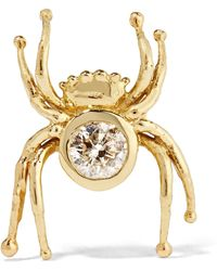 Daniela Villegas - Mini Spider 18-karat Gold Diamond Earring - Lyst