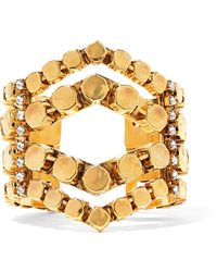 Erickson Beamon - Awaken Gold-plated Crystal Cuff - Lyst