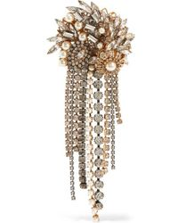 Erickson Beamon | Hunger Gold-plated, Faux Pearl And Crystal Brooch | Lyst