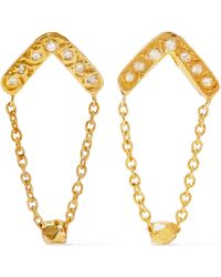 Scosha - Glow Gold-plated Diamond Earrings - Lyst