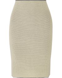 CALVIN KLEIN 205W39NYC - Perforated Stretch-knit Skirt - Lyst