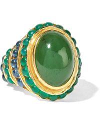Percossi Papi - Gold Multi-stone Ring - Lyst