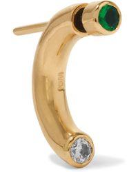 Iam By Ileana Makri - Pipe Gold-plated Zircon Earring - Lyst