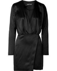 Cushnie et Ochs - Wrap-effect Silk-satin Mini Dress - Lyst