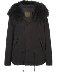 Mr & Mrs Italy - Shearling-trimmed Cotton-canvas Parka Jacket - Lyst