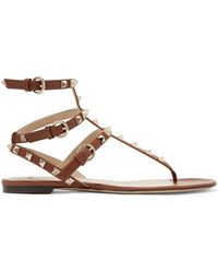 1cabc18e0d1c Valentino - Garavani The Rockstud Leather Sandals - Lyst