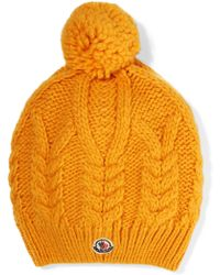 Moncler - Yellow Beanie - Lyst