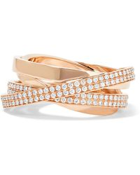 Repossi - Technical Berbère 18-karat Rose Gold Diamond Ring - Lyst