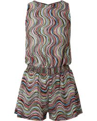 Missoni | Mare Metallic Crochet-knit Playsuit | Lyst