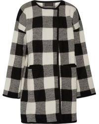 HATCH The Claude Plaid Alpaca And Merino Wool-blend Coat