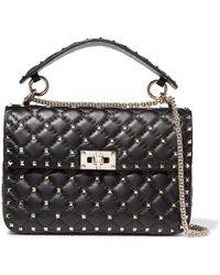Valentino - Rockstud Spike Medium Quilted Leather Shoulder Bag - Lyst