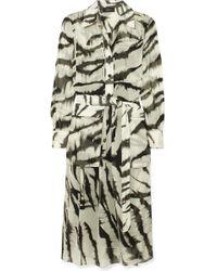 JOSEPH - Seldon Zebra-print Silk Dress - Lyst