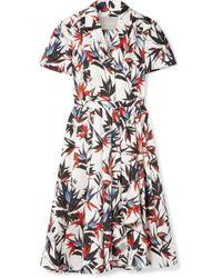 Jason Wu - Pleated Printed Cotton-poplin Dress - Lyst