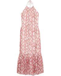 Rachel Zoe - Harriet Snake-print Silk-chiffon Dress - Lyst