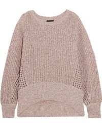 Rag & Bone - Athena Metallic Ribbed And Open-knit Cashmere-blend Jumper - Lyst