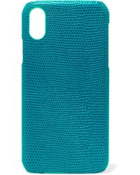 The Case Factory - Lizard-effect Leather Iphone X Case - Lyst