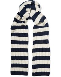 J.Crew - Striped Ribbed Cashmere Scarf - Lyst