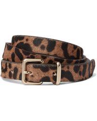 J.Crew - Leopard-print Calf Hair Belt - Lyst
