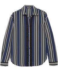 Markus Lupfer - Clara Striped Silk Shirt - Lyst