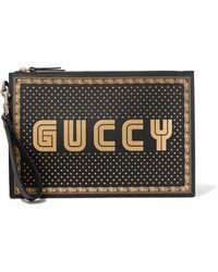 Gucci - Black Sega Guccy Pouch - Lyst