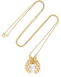Yvonne Léon - 18-karat Gold Multi-stone Necklace - Lyst