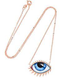 Lito - Zeusdione Tu Es Partout 14-karat Rose Gold Enamel Necklace - Lyst