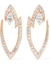 Stephen Webster - Lady Stardust 18-karat Rose Gold Diamond Earrings - Lyst
