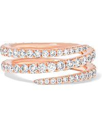 Anita Ko | Coil 18-karat Rose Gold Diamond Ring | Lyst