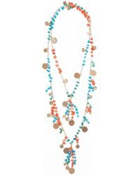 Rosantica - Vento Gold-tone Beaded Necklace - Lyst