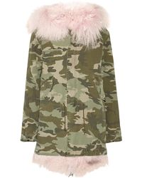Mr & Mrs Italy - Shearling-lined Camouflage-print Cotton-canvas Parka - Lyst