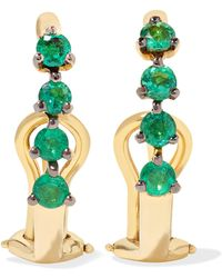 Ana Khouri | Manoela 18-karat Gold Emerald Earrings | Lyst