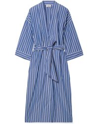 Sleepy Jones - Sadie Striped Cotton Robe - Lyst