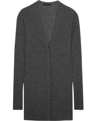 CALVIN KLEIN 205W39NYC - Ribbed Cashmere-blend Cardigan - Lyst