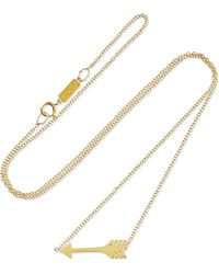 Jennifer Meyer - Mini Arrow 18-karat Gold Necklace - Lyst