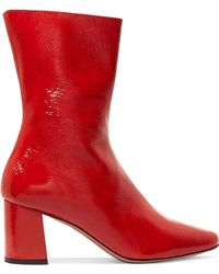Trademark | Mira Patent Textured-leather Ankle Boots | Lyst