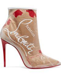 Christian Louboutin - So Kate 100 Logo-print Pvc Ankle Boots - Lyst
