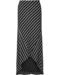 Haider Ackermann - Asymmetric Striped Satin Skirt - Lyst
