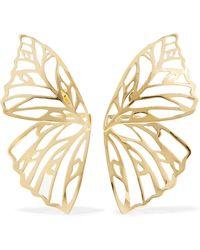 Jennifer Fisher - Butterfly Gold-plated Earrings - Lyst