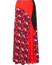Marni - Patchwork Printed Jersey Maxi Skirt - Lyst