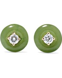 Fernando Jorge - Orbit Small 18-karat Gold, Diamond And Nephrite Jade Earrings - Lyst
