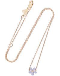 Alison Lou - Wildflower 14-karat Gold, Diamond And Enamel Necklace - Lyst