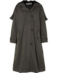 McQ - Oversized Hooded Faux Fur-trimmed Shell Parka - Lyst